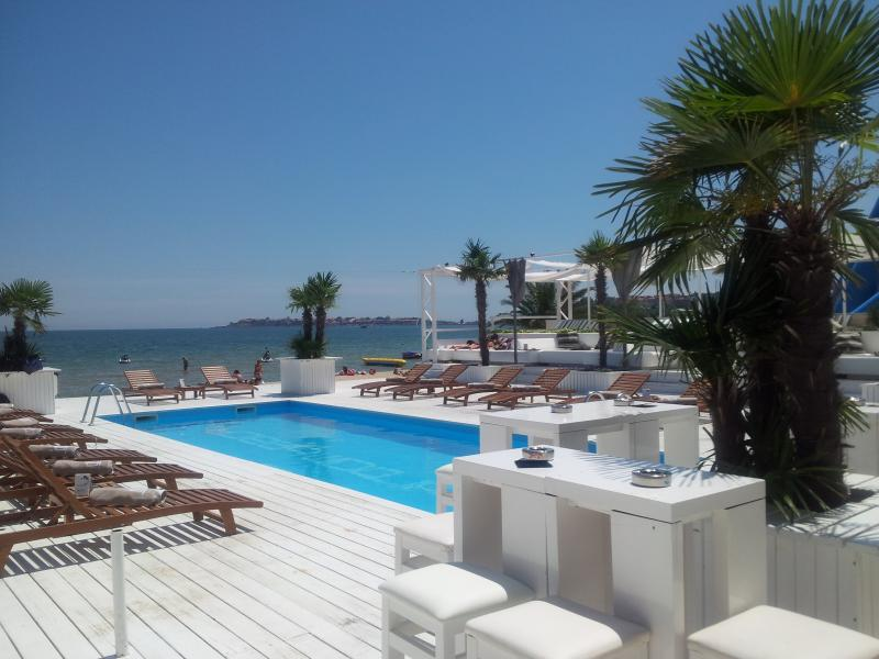 Cacao beach is a five minute walk from the apartment and has five beach bars open in July and August