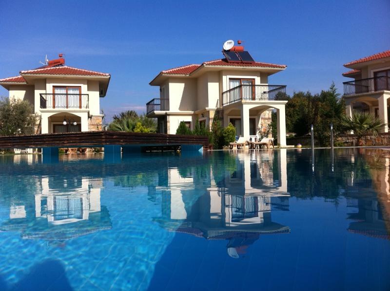 Our villa at top of the pool