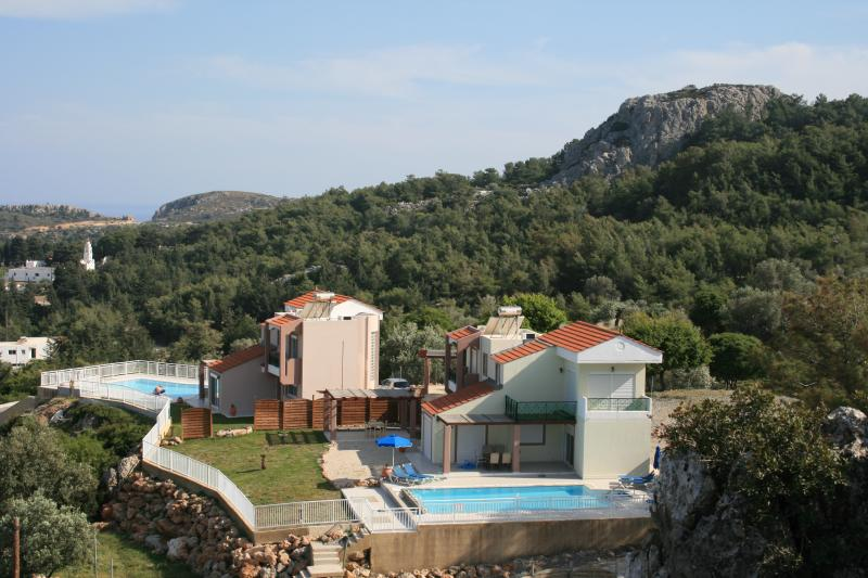 The villas in their stunning setting