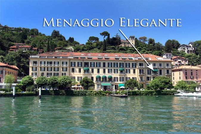 Menaggio Elegante's superb location along the lovely Menaggio lakeshore