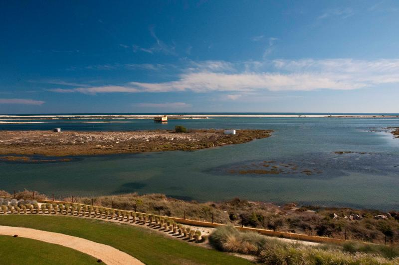 Panoramic view over Ria Formosa from the terrace