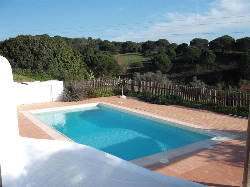 View over the swimming pool