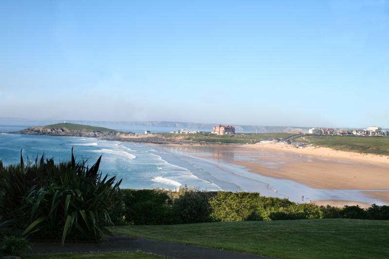 Stunning view of Fistral beach from front of house