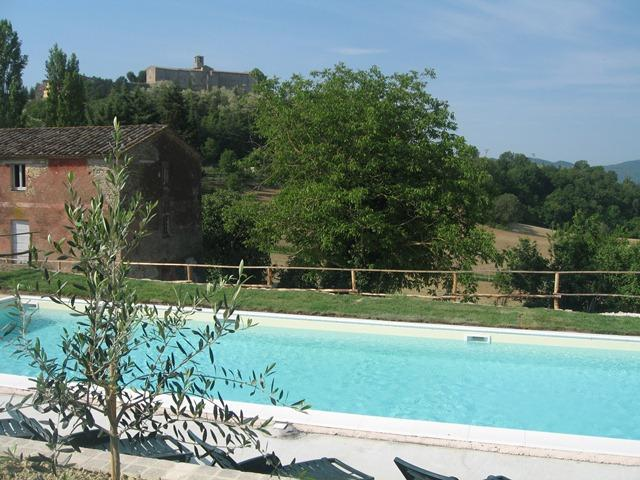 View of Montone from the swimming pool