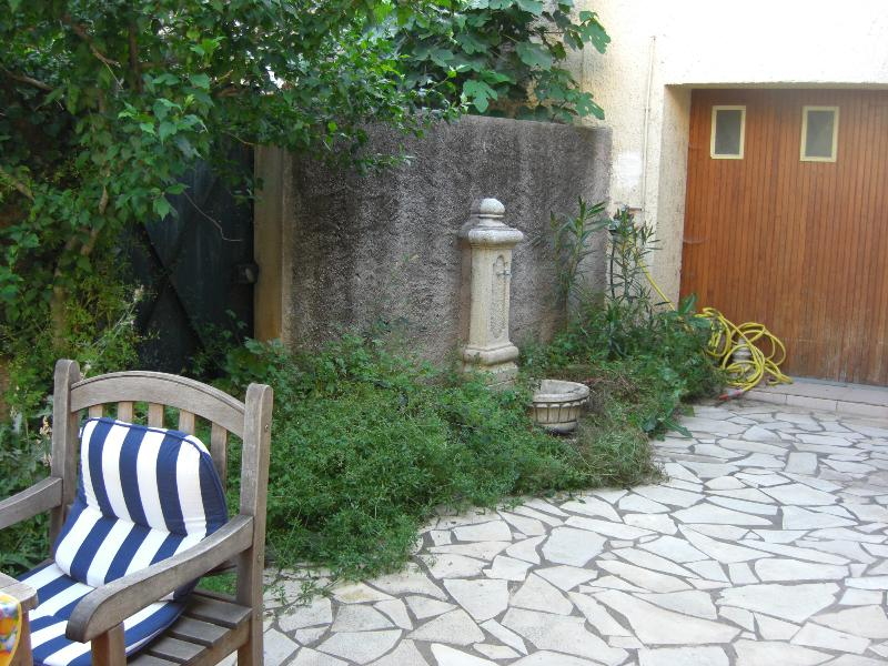 Looking up the side patio
