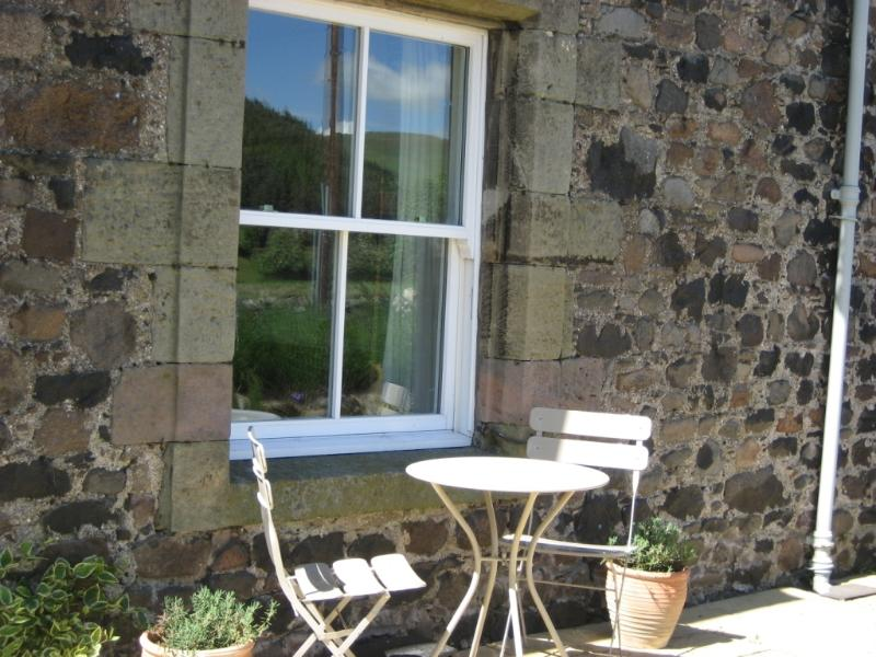 Enjoy the sun on the patio in your own enclosed garden