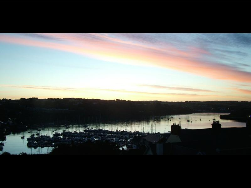 Sunrise in September - a perfect morning, overlooking the harbour from bed!