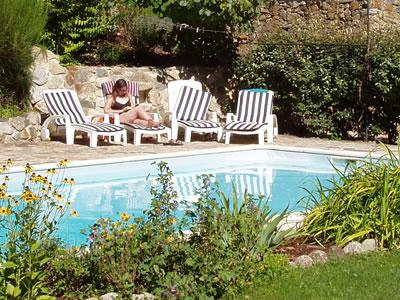 9x5m pool, in its own valley and beautiful garden (fenced for safety)