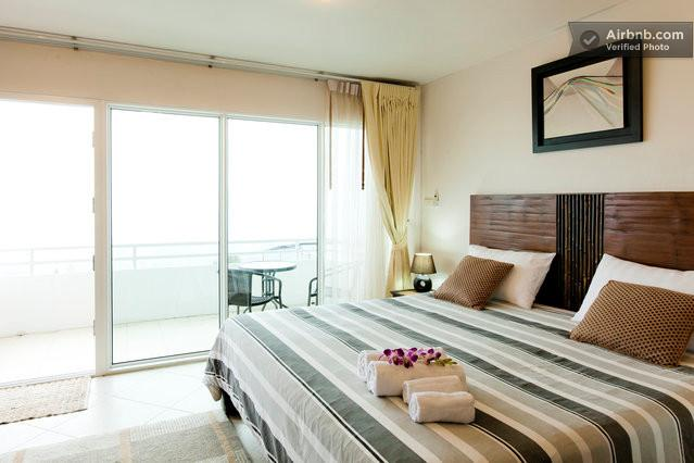 Spacious private room and balcony with spectacular views.
