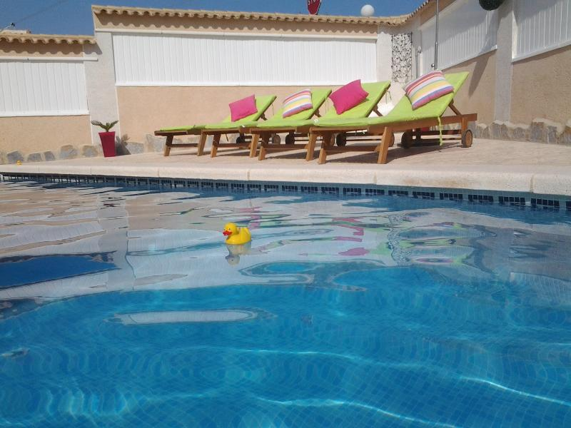 Relax by the pool on one of the 6 lounger's