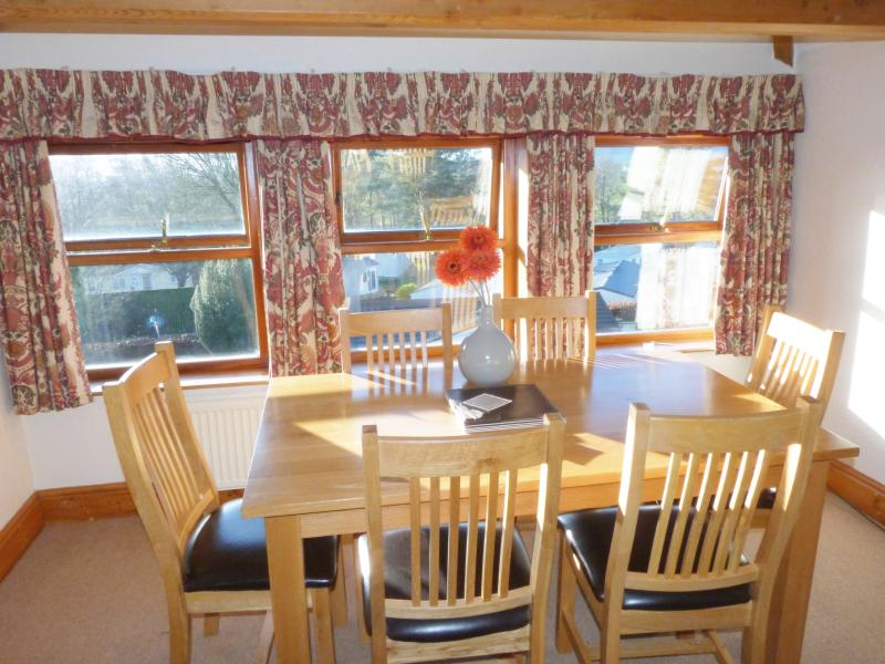 Dining area with fabulous views over the park