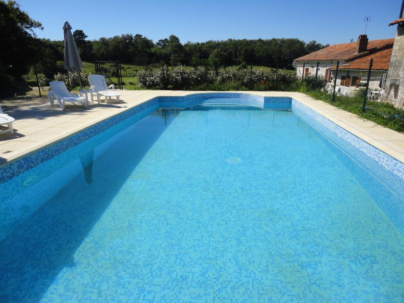 Large Solar heated pool 11 x 6m. Reaches up to 32 degrees in season, see our  reviews on Tripadvisor