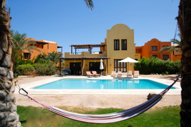 Our Villa viewed from the private garden.  WIFI, Heated Pool,sleeps 8
