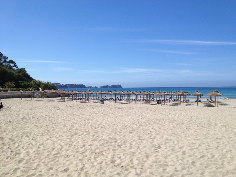 Tora beach, just 3 minutes walk from the apartment