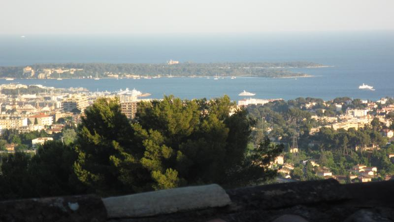 View to Isle Lerins from apartment
