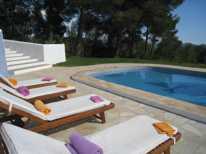 View Of The Pool From The Loungers Of The Villa