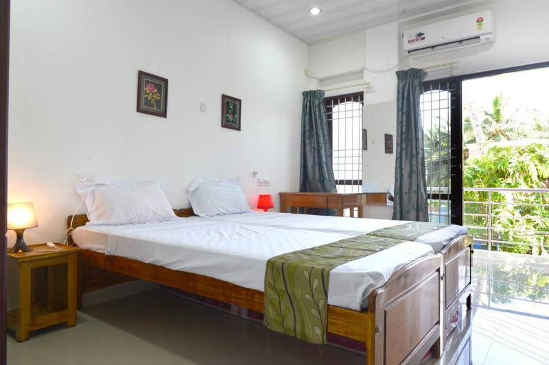 Extra long beds - 2.10 Meters and air-conditioned rooms & ceiling fan