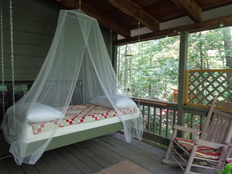 Hanging Bed on the Porch