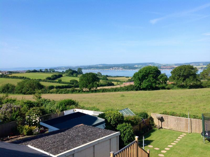 Stunning views across the river Exe and out to sea