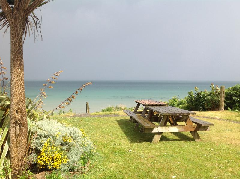 front garden looking out to sea