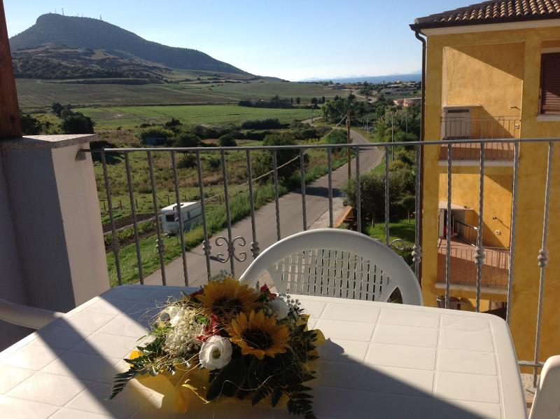 The sunny terrace with seaview