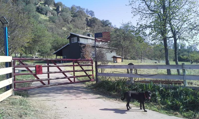 Entry to the Holland Ranch & The Barn Apartment