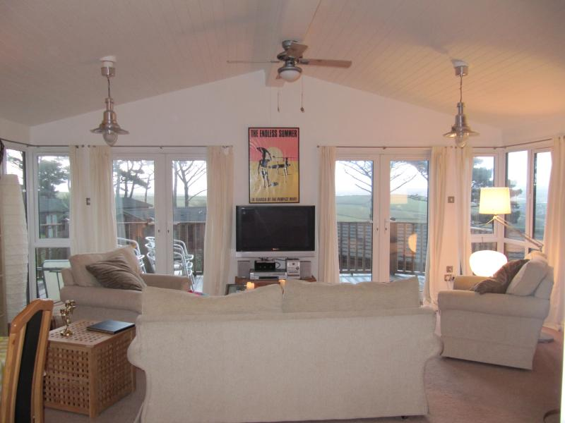 Beautiful light sitting room with great views across to the River Tamar
