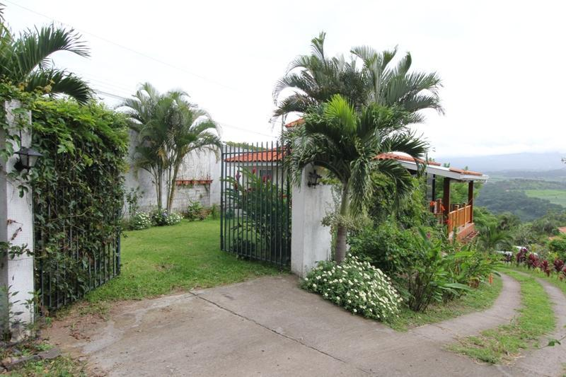 Casita gate and yard, north view