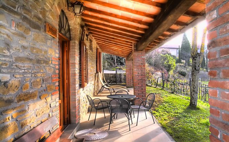 Terrace of the property with nice dining set