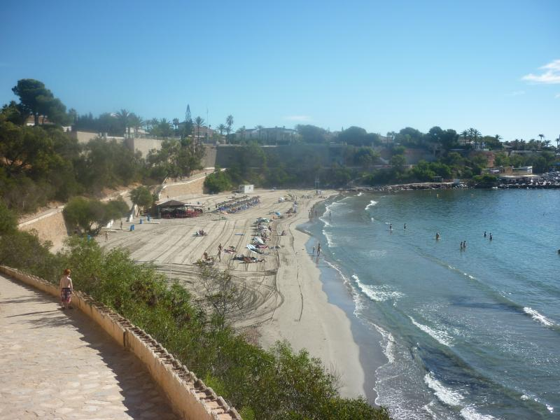 An elevated view of cabo roig beach.