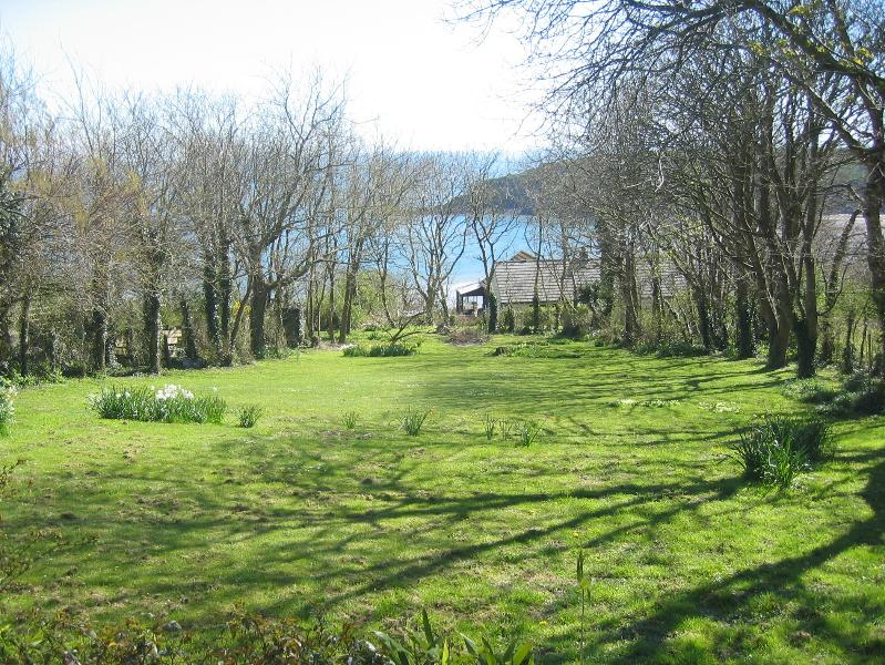 Garden and sea view from raised deck