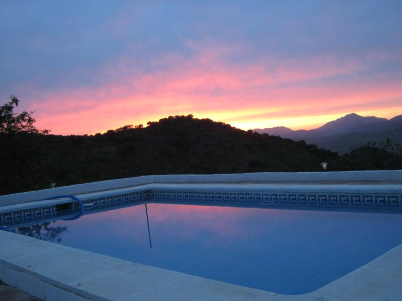 The pool with a view...