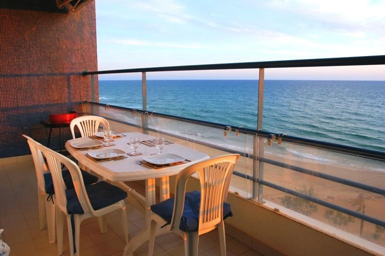 Dinner looking out to sea