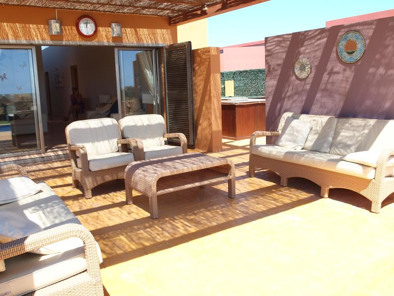 A view of the outside lounge area