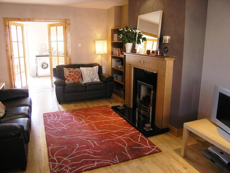 Spacious lounge with gas fire for cosy 'nights in'