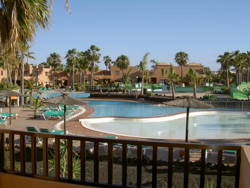 View From Terrace Overlooking Swimming Pool Area