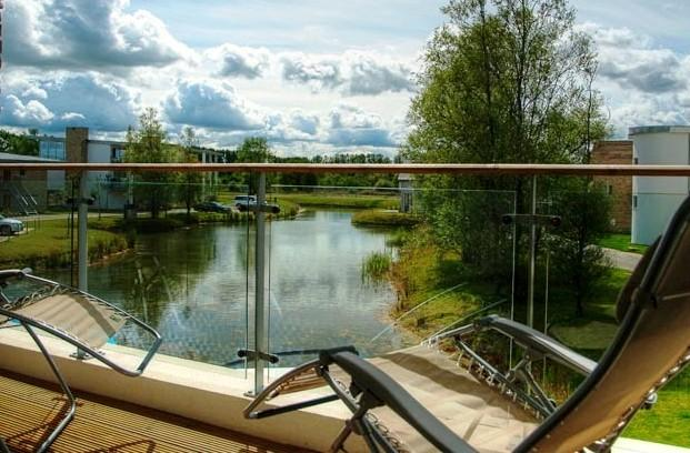 Your personal lakeside veranda, great for lazy afternoons with a book, or perhaps watching the sunse