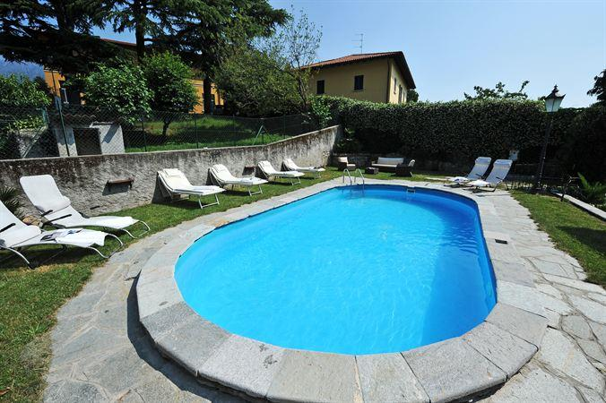 The large outdoor swimming pool at Villa Sophia
