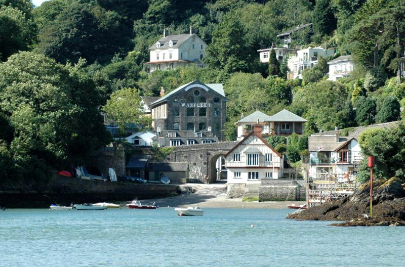 Warfleet Creek from the River Dart, with slipway and pottery