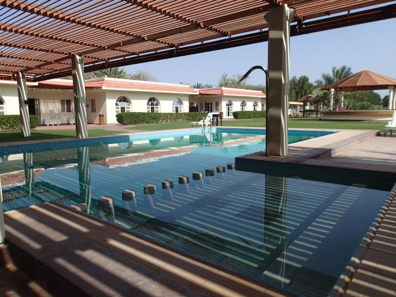 Completely private heated swimming pool with kids section