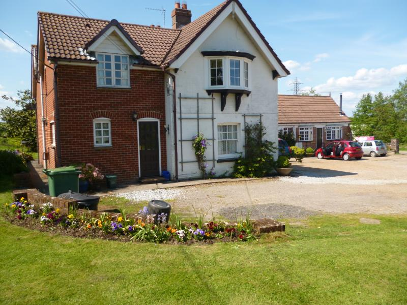 This front of Grange farm House overlooking the front garden private car parking/ welcoming