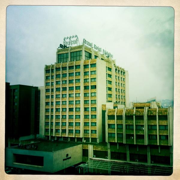 This is the view from our balcony. It is extreme center of town (Pristina, Kosovo)