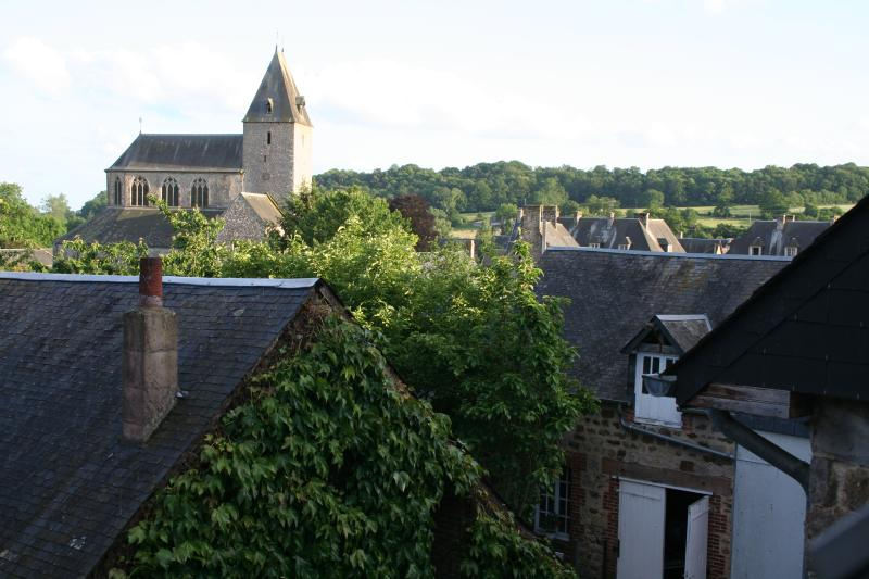 View of the abbey from the attic room