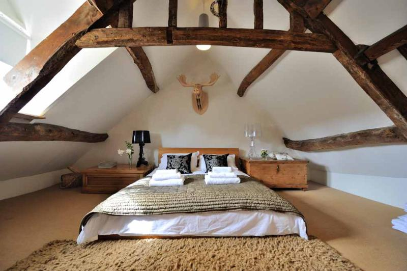 The eaves double bedroom, filled with character and charm