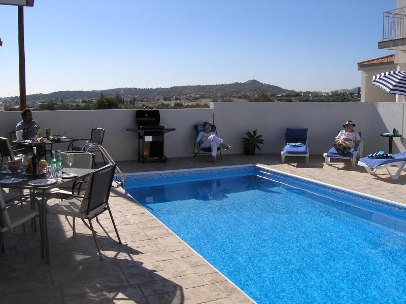Private pool and spacious sun bathed terrace.