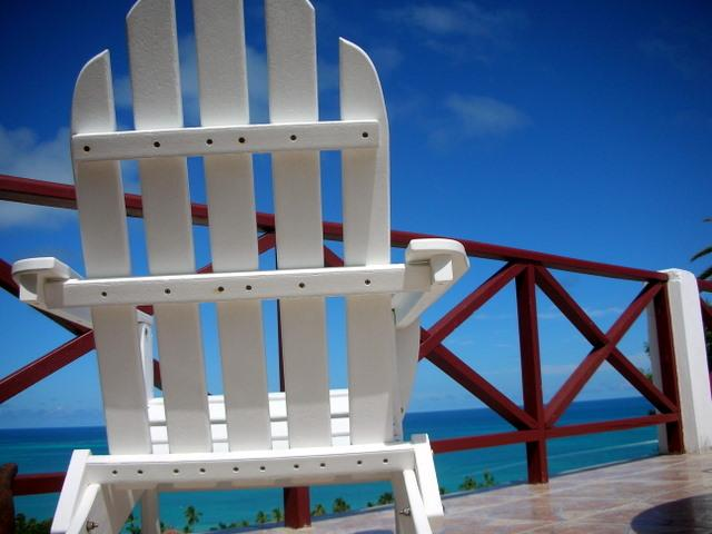 Chill out with a pina colada on the upper deck