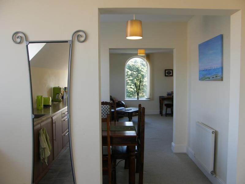 View from Kitchen, through Dining Area to Lounge