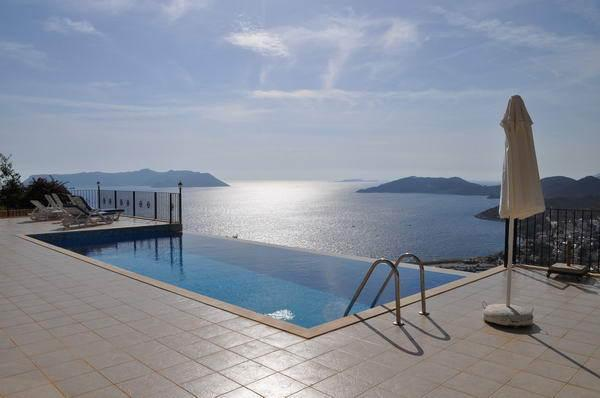Infinity pool with possibly the best views over Kas