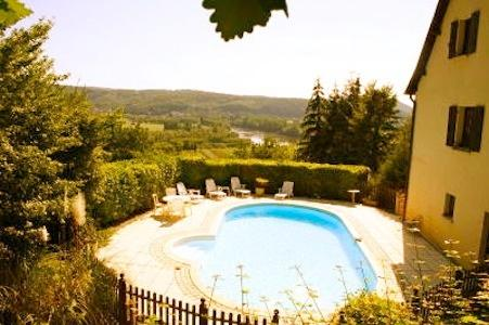 Heated pool with stunning views from the BBQ terrace