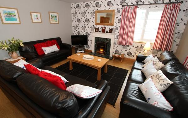 Large homely lounge at Tan-y-Graig
